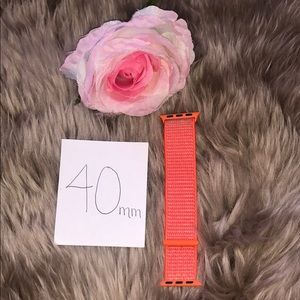 Other - Apple Watch Neon Orange Velcro Band Strap